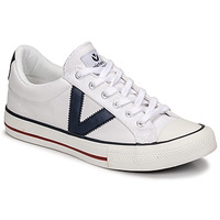 Παπούτσια Χαμηλά Sneakers Victoria TRIBU LONA CONTRASTE Άσπρο / Μπλέ
