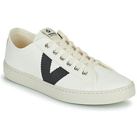 Παπούτσια Γυναίκα Χαμηλά Sneakers Victoria BERLIN LONA GRUESA Άσπρο / Μπλέ