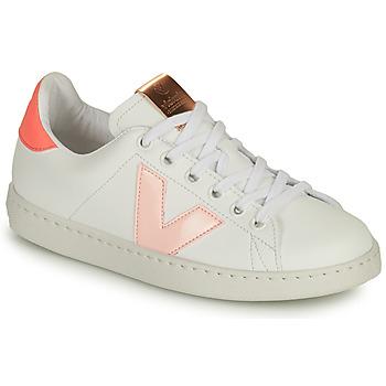 Παπούτσια Κορίτσι Χαμηλά Sneakers Victoria TENIS VEGANA CONTRASTE Άσπρο / Ροζ