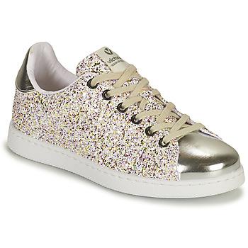 Παπούτσια Κορίτσι Χαμηλά Sneakers Victoria TENIS GLITTER Silver