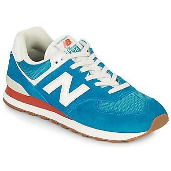 Παπούτσια Άνδρας Χαμηλά Sneakers New Balance 574 Μπλέ / Άσπρο