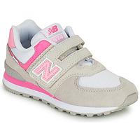 Παπούτσια Κορίτσι Χαμηλά Sneakers New Balance 574 Grey / Ροζ