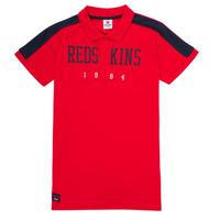 Υφασμάτινα Αγόρι Πόλο με κοντά μανίκια  Redskins PO180117-RED Red