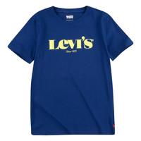 Υφασμάτινα Αγόρι T-shirt με κοντά μανίκια Levi's GRAPHIC TEE Μπλέ