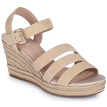 Παπούτσια Γυναίκα Σανδάλια / Πέδιλα Geox D SOLEIL C Beige