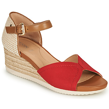 Παπούτσια Γυναίκα Σανδάλια / Πέδιλα Geox D ISCHIA CORDA D Red / Cognac