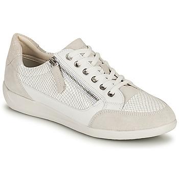 Παπούτσια Γυναίκα Χαμηλά Sneakers Geox D MYRIA A Άσπρο