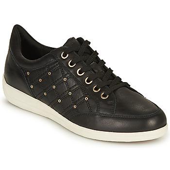 Παπούτσια Γυναίκα Χαμηλά Sneakers Geox D MYRIA H Black