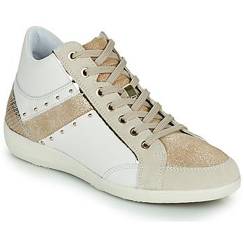 Παπούτσια Γυναίκα Ψηλά Sneakers Geox D MYRIA G Άσπρο / Beige