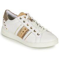 Παπούτσια Γυναίκα Χαμηλά Sneakers Geox D JAYSEN A Άσπρο / Gold