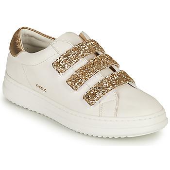 Παπούτσια Γυναίκα Χαμηλά Sneakers Geox D PONTOISE C Άσπρο / Gold