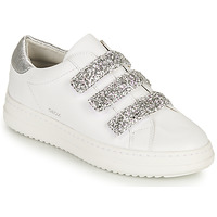 Παπούτσια Γυναίκα Χαμηλά Sneakers Geox D PONTOISE C Άσπρο / Silver