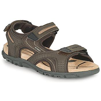 Παπούτσια Άνδρας Σπορ σανδάλια Geox UOMO SANDAL STRADA D Brown / Beige