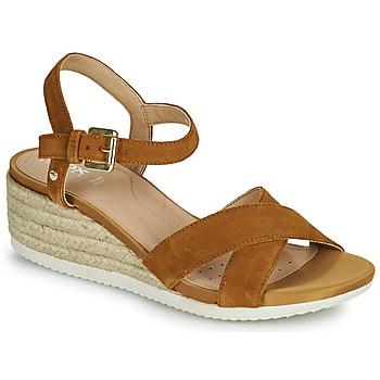 Παπούτσια Γυναίκα Σανδάλια / Πέδιλα Geox D ISCHIA CORDA C Camel