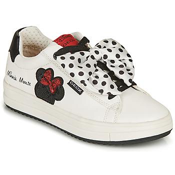 Παπούτσια Κορίτσι Χαμηλά Sneakers Geox REBECCA GIRL Άσπρο / Black / Red