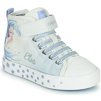 Παπούτσια Κορίτσι Ψηλά Sneakers Geox JR CIAK GIRL Άσπρο / Μπλέ