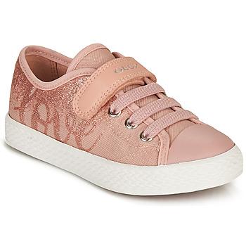 Παπούτσια Κορίτσι Χαμηλά Sneakers Geox JR CIAK GIRL Ροζ