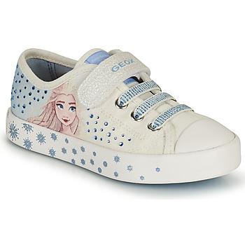 Παπούτσια Κορίτσι Χαμηλά Sneakers Geox JR CIAK GIRL Άσπρο / Μπλέ