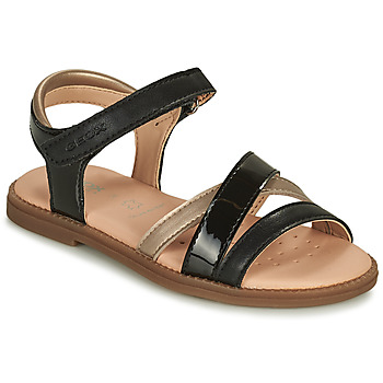 Παπούτσια Κορίτσι Σανδάλια / Πέδιλα Geox SANDAL KARLY GIRL Black / Gold