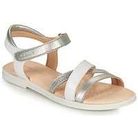 Παπούτσια Κορίτσι Σανδάλια / Πέδιλα Geox SANDAL KARLY GIRL Άσπρο / Silver