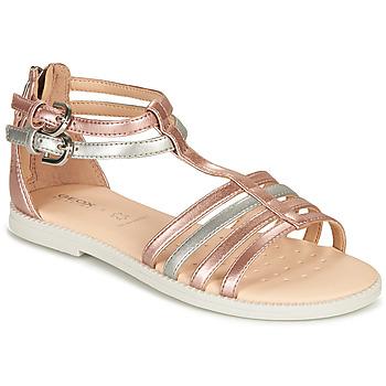 Παπούτσια Κορίτσι Σανδάλια / Πέδιλα Geox SANDAL KARLY GIRL Ροζ / Silver