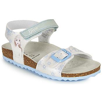 Παπούτσια Κορίτσι Σανδάλια / Πέδιλα Geox ADRIEL GIRL Άσπρο / Μπλέ