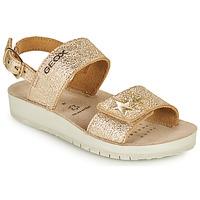 Παπούτσια Κορίτσι Σανδάλια / Πέδιλα Geox SANDAL COSTAREI GI Gold