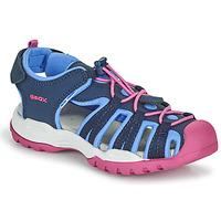 Παπούτσια Κορίτσι Σπορ σανδάλια Geox BOREALIS GIRL Μπλέ / Ροζ