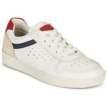 Παπούτσια Αγόρι Χαμηλά Sneakers Geox J DJROCK BOY A Άσπρο / Marine / Red