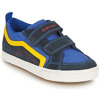 Παπούτσια Αγόρι Χαμηλά Sneakers Geox ALONISSO BOY Marine / Yellow