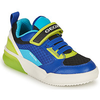Παπούτσια Αγόρι Χαμηλά Sneakers Geox GRAYJAY BOY Μπλέ / Lime