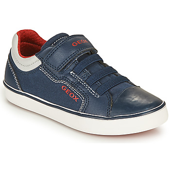 Παπούτσια Αγόρι Χαμηλά Sneakers Geox GISLI BOY Marine / Red