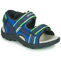 Παπούτσια Αγόρι Σπορ σανδάλια Geox JR SANDAL STRADA Μπλέ / Green
