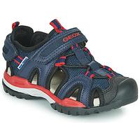 Παπούτσια Αγόρι Σπορ σανδάλια Geox BOREALIS BOY Marine / Red