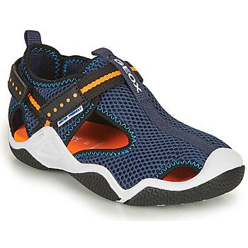 Παπούτσια Αγόρι Σπορ σανδάλια Geox JR WADER Marine / Orange