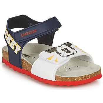 Παπούτσια Αγόρι Σανδάλια / Πέδιλα Geox SANDAL CHALKI BOY Marine / Άσπρο