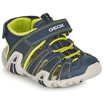 Παπούτσια Αγόρι Σπορ σανδάλια Geox SANDAL KRAZE Marine / Lime