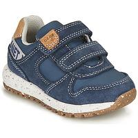 Παπούτσια Αγόρι Χαμηλά Sneakers Geox ALBEN BOY Μπλέ / Brown
