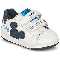 Παπούτσια Αγόρι Χαμηλά Sneakers Geox NEW FLICK BOY Άσπρο / Μπλέ