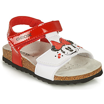 Παπούτσια Κορίτσι Σανδάλια / Πέδιλα Geox SANDAL CHALKI GIRL Red / Άσπρο