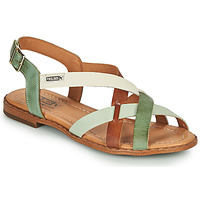 Παπούτσια Γυναίκα Σανδάλια / Πέδιλα Pikolinos ALGAR W0X Brown / Green