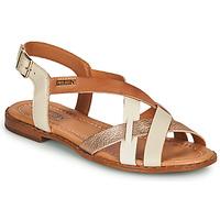Παπούτσια Γυναίκα Σανδάλια / Πέδιλα Pikolinos ALGAR W0X Άσπρο / Ροζ / Gold