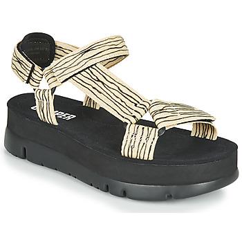 Παπούτσια Γυναίκα Σανδάλια / Πέδιλα Camper ORUGA UP Black / Beige