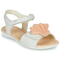 Παπούτσια Κορίτσι Σανδάλια / Πέδιλα Camper TWINS Ροζ / Άσπρο