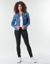 Υφασμάτινα Γυναίκα Skinny jeans G-Star Raw Midge Zip Mid Skinny Wmn Pitch / Μαυρο