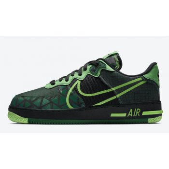 Παπούτσια Ψηλά Sneakers Nike Air Force 1 React ?Naija? Black/Pine Green-Green Strike