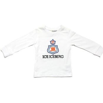 Υφασμάτινα Αγόρι Μπλουζάκια με μακριά μανίκια Iceberg TSICE0316B Bianco