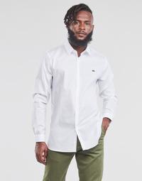 Υφασμάτινα Άνδρας Πουκάμισα με μακριά μανίκια Lacoste PITTA Άσπρο