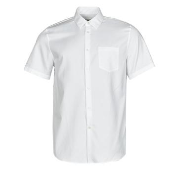 Υφασμάτινα Άνδρας Πουκάμισα με κοντά μανίκια Lacoste FOLLA Άσπρο