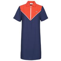 Υφασμάτινα Γυναίκα Κοντά Φορέματα Lacoste FRITTI Red / Μπλέ